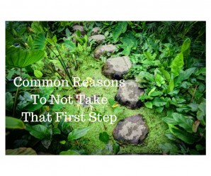 Common Reasons To Not Take That First Step